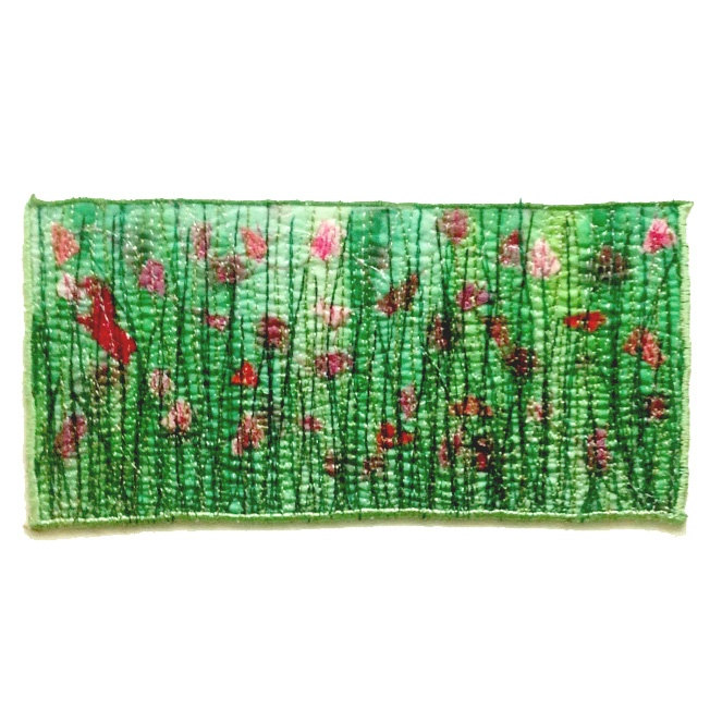 Tulips Abstract Embroidery by Tamara Russell - Karhina.com