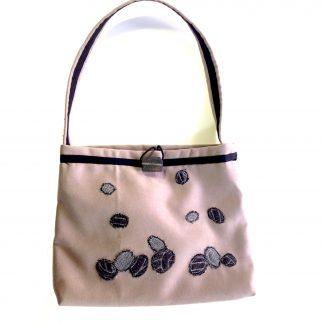 Upcycled handbag - stone