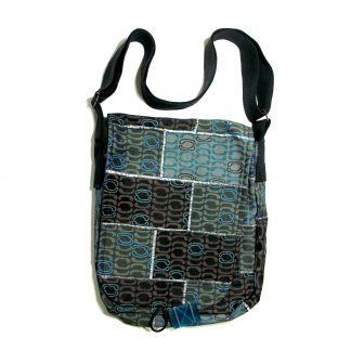 Messenger upcycled bag - Wall ocean