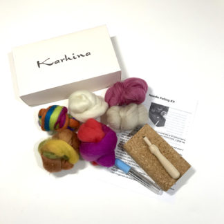 Needle Felting Visible Mending Kit designed by Tamara Russell - Karhina.com