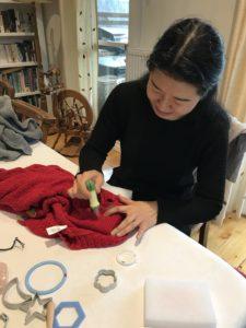 Needle felting workshop - Karhina.com
