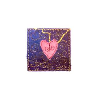 Free machine silk heart embroideries by Tamara Russell - Karhina.com